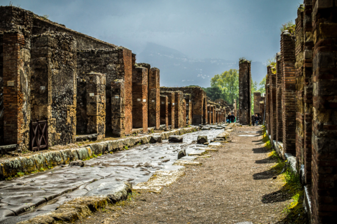 Pompeii ruins are really close to Naples.